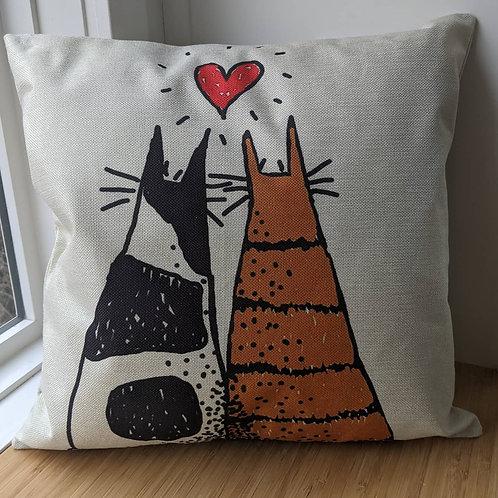 Nats cute cats cushion cover