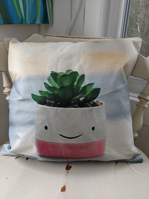 The Happy Pot Cushion Cover