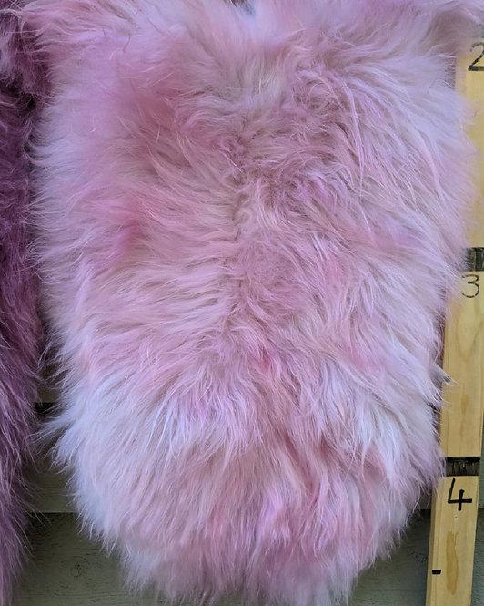 Cotton Candy dyed Icelandic Sheepskin