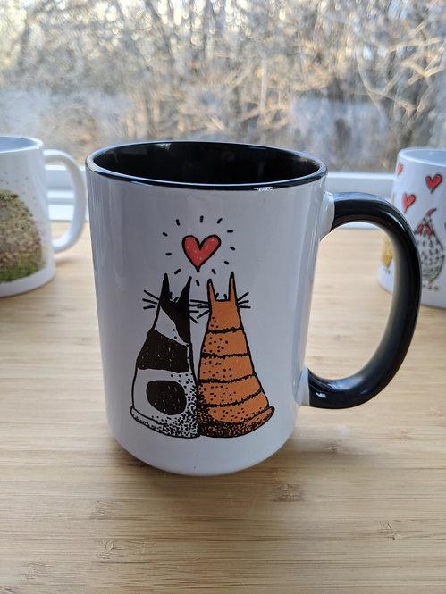 15 oz Adorable cats mug *Add on item
