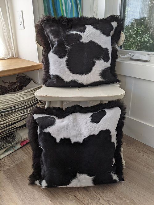 Pair of gorgeous double sided cushions