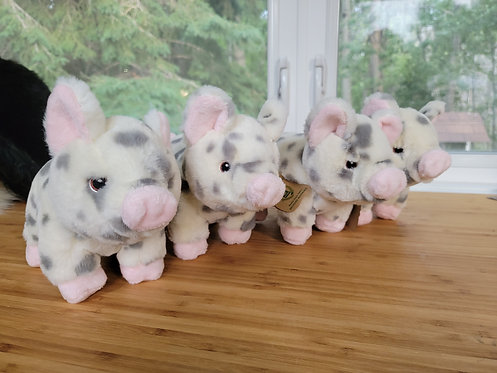 Eco friendly spotted piglet plush *Add on item*