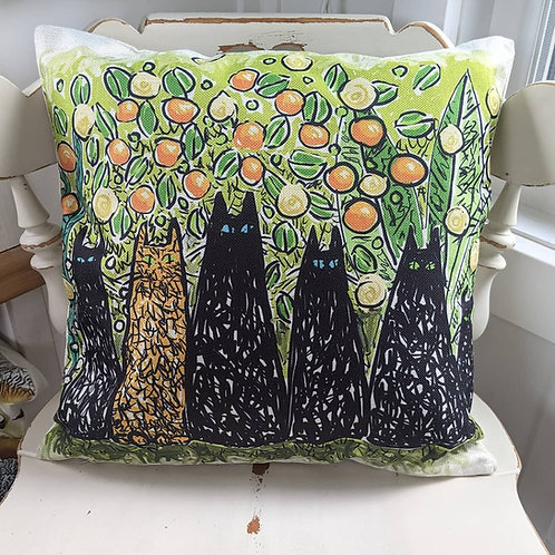 Nats curious cats cushion cover