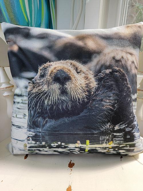 Sea Otter Cushion Cover