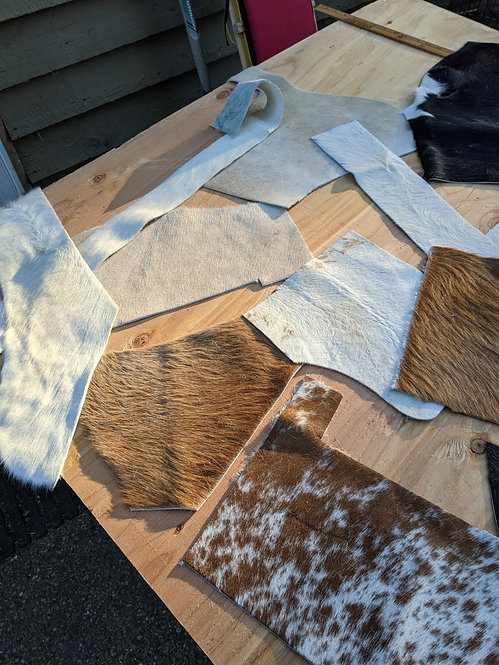 #2  1Kg Pack of Cowhide for crafting