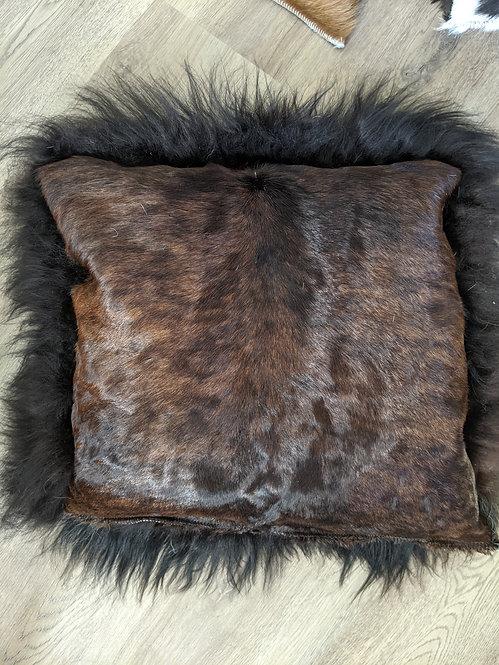 Gorgeous calfskin and sheepskin cushion