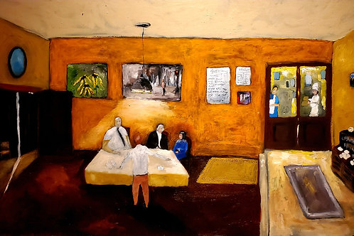 "48"" x 30"" ""The End"" Oil Bar on Canvas"