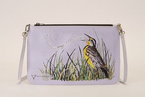 Montana Bag Works Meadowlark Storm Grey Large Pochette Clutch