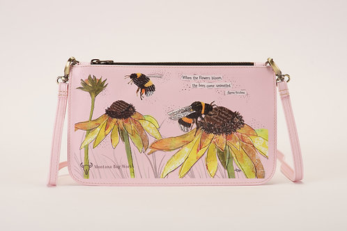 Gentle Giants Bumblebee Small Pochette in Rosa Pink