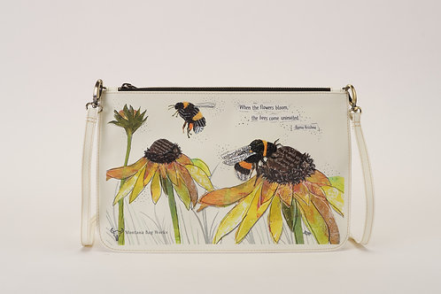 Montana Bag Works Gentle Giants In Antique White Large Pochette Clutch