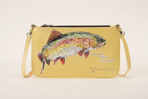 Montana Bag Works Rainbow Trout Small Vanilla Pochette Clutch