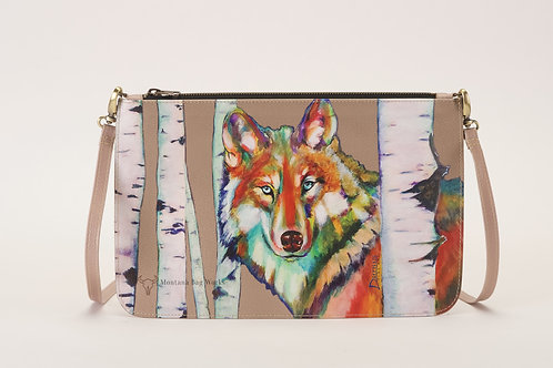 Grey Wolf in Clay Taupe Small Pochette