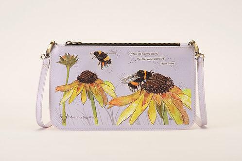 Gentle Giants Bumblebee Large Pochette in Spanish Lavender