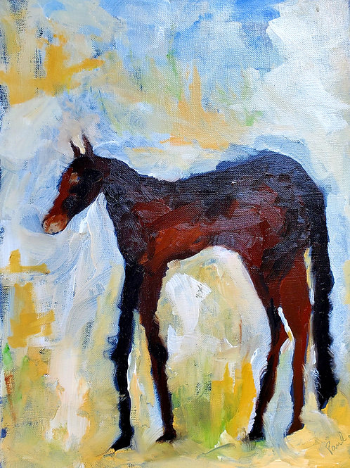 """Old Mare"" 14""x12"". Oil on Canvas. 2020."