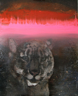snow leopard, pulse, energy, oil colors, painting, art, lumileopardi, maalaus