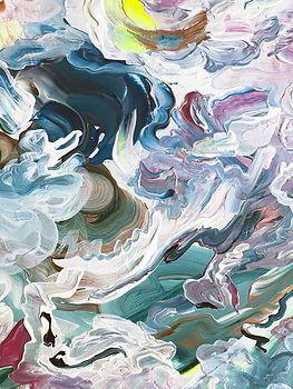 Abstract art, art, detail, colorful, japanese, abstrakti taide, maalaus, sisustus