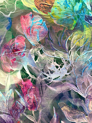 abstract art, underwater, painting, colors, merenalainen maailma, maalaus, akryylimaalaus, abstrakti taide