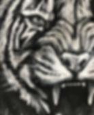 textile painting, textile art, power animals, animal art, tekstiilimaalaus, tekstiilitaide, eläintaide, voimaeläin, tiger, tiikeri