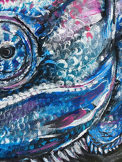 textile painting, textile art, power animals, animal art, tekstiilimaalaus, tekstiilitaide, eläintaide, voimaeläin