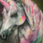 textile painting, textile art, power animals, animal art, tekstiilimaalaus, tekstiilitaide, eläintaide, voimaeläin, yksisarvinen, unicorn