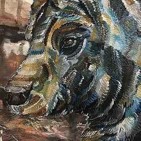 bear painting, art, animal art, contemporary painting, karhu, maalaus, taide, eläintaide, nykytaide, suomalainen taide