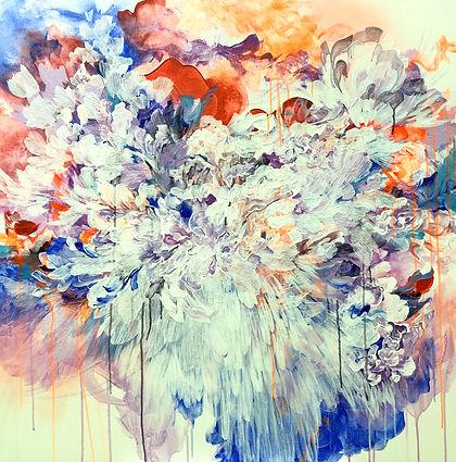 kukka, maalaus, floral, taide, sweet little things, abstrakti