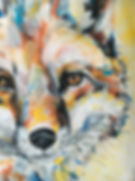 textile painting, textile art, power animals, animal art, tekstiilimaalaus, tekstiilitaide, eläintaide, voimaeläin, fox, kettu