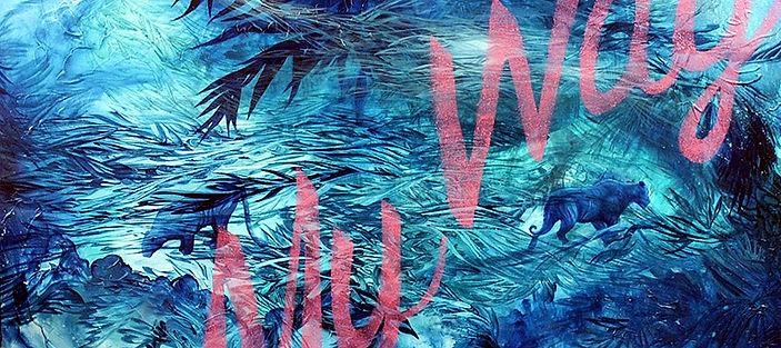 My way, tigers, painting, art, animal art, street art, fine art, tiikeri, taide, eläintaide, katutaide, maalaus, taide