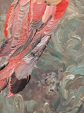 detail, feathers, painting, sulat, maalaus