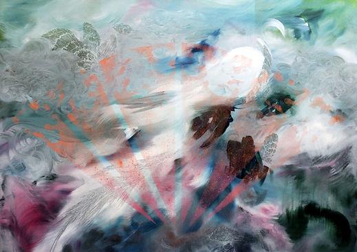 peacock, abstract art, animal art, contemporary painting, art, riikinkukko, nykytaide, maalaus