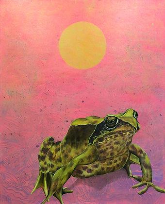 frog, art, painting, sammakko, maalaus, nykytaide, taide, eläintaide, akryyli