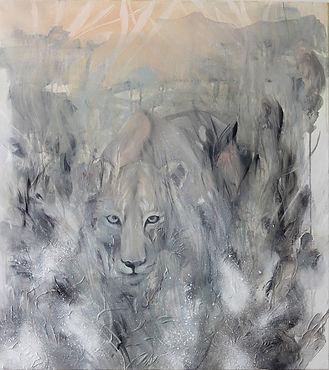 animal art, painting, art, contemporary painting, interior, eläintaide, maalaus, sisustus, lioness, leijona