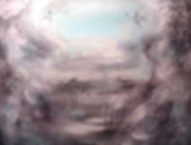 fog, deer, deers, art, painting, deer art, autumn, syksy, peura, taide, peurat, maalaus, usva, nykytaide