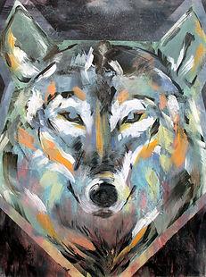 wolf, art, painting, animal art, power animal, susi, taide, voimaeläin, maalaus, eläintaide