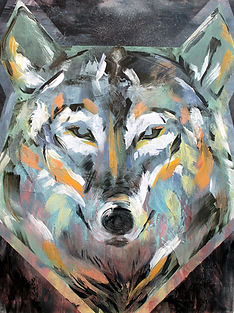 wolf, art, painting, animal art, power animal, susi, taide, voimaeläin, maalaus, eläintaide