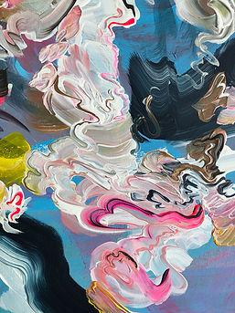 abstrakti, yksityiskohta, maalaus, taide, abstract art, detail, painting