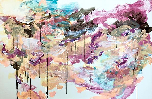 Abstract art, painting, lumi saarikoski, acrylic, contemporary art, art, maalaus,taide, nykytaide, interior
