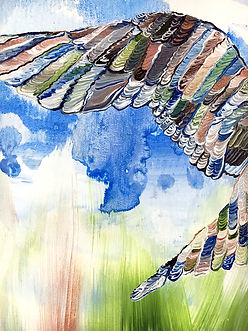 detail, bird, painting, sea, meri, tiira, maalaus, taide
