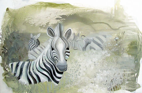 zebra, zebras, art, painting, animal art, illustration, animal, seepra, taide, kuvitus, eläintaide, maalaus