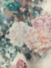 flowers, painting, art, detail, kukkamaalaus, taide, maalaus