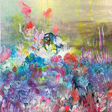 abstract art, painting, acrylic paint, aqua pop, pop, colors, finnish art, nykytaide, lumi saarikoski, merenalainen, akryylimaalaus, taide