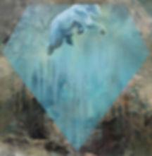 polar bear, art, painting, interior, water, underwater, jääkarhu, timantti, taide, kuvitus, sisustus