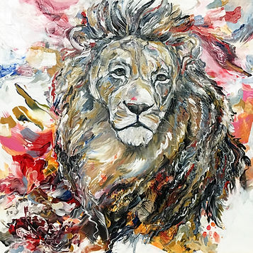 lion, painting, animal art, power animal, leijona, maalaus, voimaeläin, taide, eläintaide