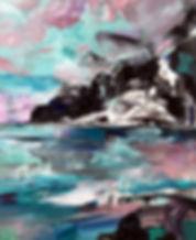 landscape, painting, pastels, acrylic, art, abstract art, contemporary painting, maisema, maalaus, taide, sisustus, nykytaide