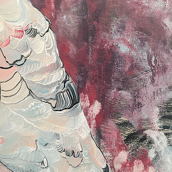 detail, brushwork, bird, maalaus, kakadu