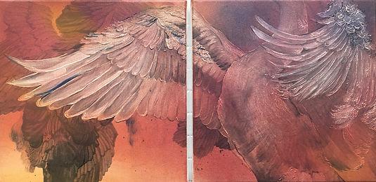 animal art, painting, art, contemporary painting, interior, eläintaide, maalaus, sisustus, joutsen, swan