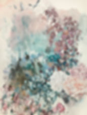 flowers, art, painting, cranes, flying, romantic, ruusu, kukka, kurjet, maalaus, taide
