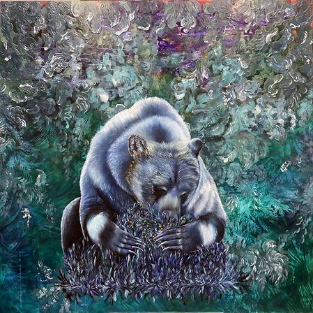 Bear, animal art, art, contemporary painting, finland, finnish art, lumi saarikoski, karhu, maalaus, nykytaide, eläintaide, myytit, voimaeläin, spirit animal