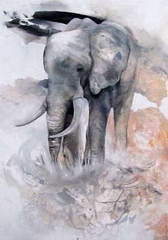 Elephant, art, painting, animal art, norsu, elefantti, taide, maalaus, sisustus