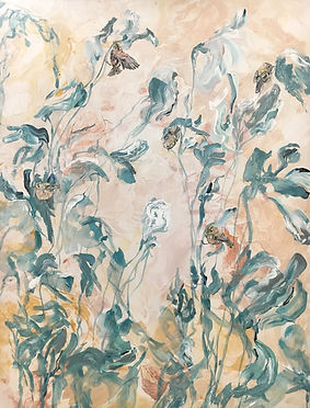 Goldcrest, bird, plants, painting, art, hippiäinen, maalaus, taide, eläintaide